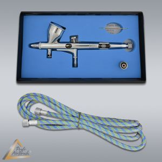 Airbrushpistole Profi-AirBrush Gravity Double-Action-Gun 180 D 0,2 mit Druckluftschlauch