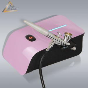 Profi-AirBrush Set Carry IV-TC pink - ideal für  Einsteiger! mit Zubehörauswahl