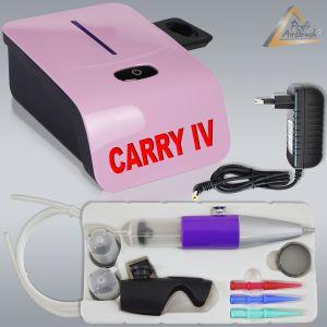 Profi-AirBrush Set Carry IV-TC pink mit TORTEN-DECO-Airbrush Set