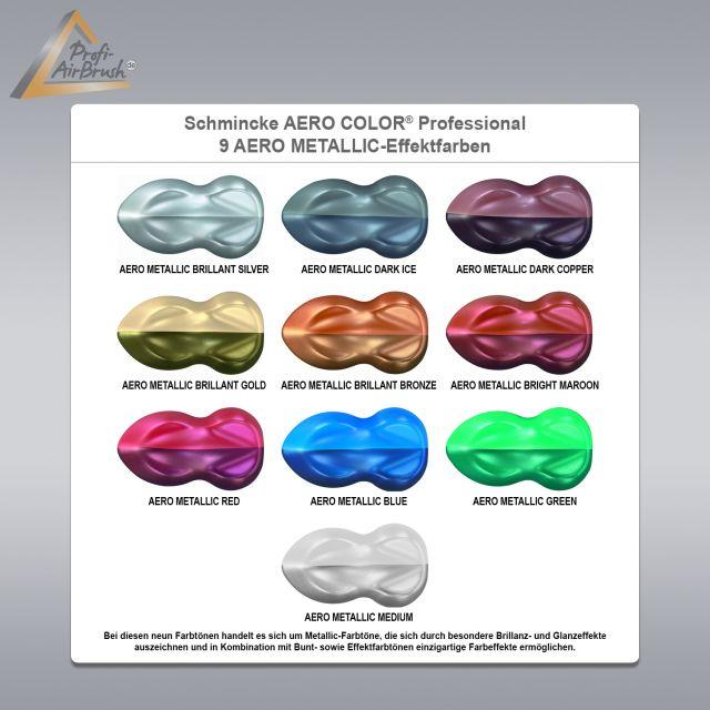 Effekt Wandfarbe Bronze Metallic: AERO COLOR METALLIC Effekt Farben, 10er Set, Schmincke