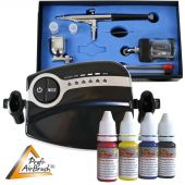 Profi-AirBrush Carry II Color II mit 4 Farben Set
