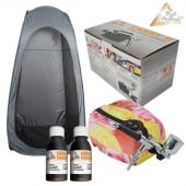 Profi-AirBrush Set Carry II Rosa mit TAN Set und Sprayzelt