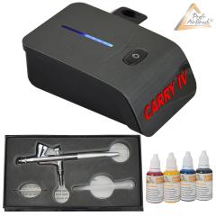 Profi-AirBrush Carry II - Gravity Double-Action-Gun 130 mit Zubehörauswahl