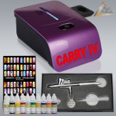 Profi-AirBrush Carry IV-TC violett NAIL Set