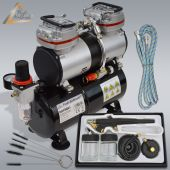Profi-AirBrush Set Duo-Power I mit Airbrush Pistole 138 D