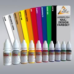 Airbrush Farben 10er Set für Fingernägel