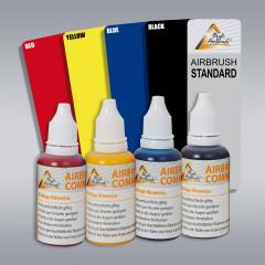 Airbrush Farben 4er Set für Tattoo, auf Alkoholbasis