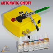 Profi-AirBrush Carry I Color mit 6 Farben Set