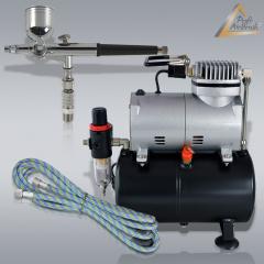 Profi-AirBrush Kompressor Universal Set I mit Zubehörauswahl