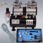 Profi-AirBrush Duo-Power Set I mit Zubehörauswahl