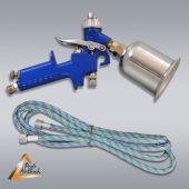 Airbrushpistole Profi-AirBrush Gravity Single-Action-Gun 2000G1 D 0,8 mit Druckluftschlauch
