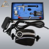 Profi-AirBrush Set Carry II Black - ideal für Einsteiger! mit Zubehörauswahl