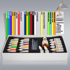 Airbrush Farben Alkoholbasis 19-er GESCHENK-Set