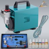 Profi-AirBrush Ultimate Set I Color mit 6 Farben Set