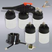 Airbrushpistole Basic Airbrush Body Art mit 5 Farbbehältern