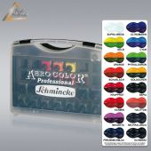 Airbrush-Farbe Aero Color Kunststoff-Koffer 16, Schmincke 81 124