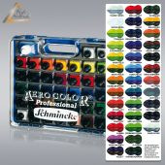 Airbrush-Farbe Aero Color Kunststoff-Koffer 37, Schmincke 81 136