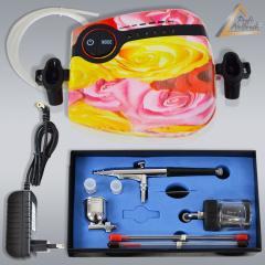 Profi-Airbrush Set Carry II Rosa - ideal für Einsteiger! mit Zubehörauswahl