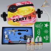 Profi-Airbrush Carry II Rosa Tattoo Set