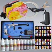 Profi AirBrush Carry II Rosa NAIL Set