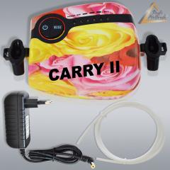 Profi-Airbrush Kompressor Carry II Rosa mit Druckschlauch / Netzteil