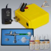 Profi-AirBrush Carry I Color II mit 4 Farben Set