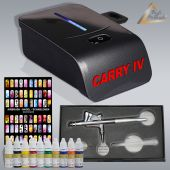 Profi-AirBrush Carry IV-TC schwarz NAIL Set