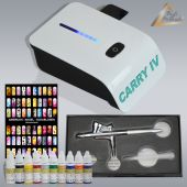 Profi-AirBrush Carry IV-TC weiß NAIL Set