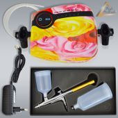 Profi-AirBrush Carry II Rosa - Gravity Single-Action-Gun 2002 D 0,3 mit Zubehörauswahl
