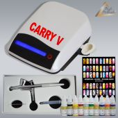 Profi-AirBrush Carry V-TC perlweiß NAIL Set