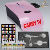 Profi-AirBrush Carry IV-TC pink NAIL Set