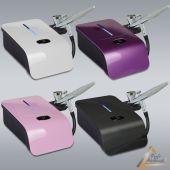 Profi-AirBrush Mini Kompressor-Sets Carry IV-TC mit Zubehörauswahl