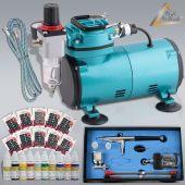 Profi-AirBrush Kompressor Compact Set I Nail Set II
