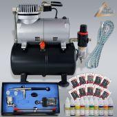 Profi-AirBrush Kompressor Universal I Nail Set II