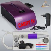 Profi-AirBrush Set Carry IV-TC violett mit TORTEN-DECO-Airbrush Set