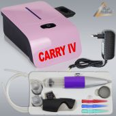 Profi-AirBrush Set Carry IV-TC pink mit TORTEN-DECO-Airbrush Set