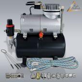 Profi-AirBrush Kompressor Set Universal BASIS mit Zubehörauswahl