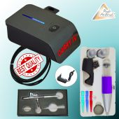 TORTEN DEKO SET Profi-AirBrush Set Carry IV-TC schwarz mit Single Action Gun 208 D 0,4